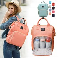 Wholesale clothing for nurses resale online - Fashion Diaper Mummy Maternity Nappy Bag Brand Large Capacity Baby Bag Outdoor Travel Backpack Designer Nursing Bag Organizer For Baby Care