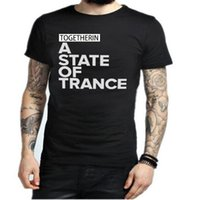 Wholesale Armin Van Buuren Shirt - Armin Van Buuren Together In A State of Trance Letter Print T Shirt Popular Music DJ T-shirt Cotton Short Sleeve Mens Tshirt