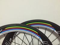 Wholesale Bike Wheels Road Full Carbon - Rainbow Roval 60mm clincher carbon wheelset wheelset road bike full carbon bicycle wheels 700C bike wheels+Gifts