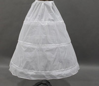 Wholesale Bride Wedding Dress Petticoat - 2017 Hot In Stock Cheapest A-Line 3 Hoops White Wedding Petticoats Free Size Bridal Slip Underskirt Crinoline Accessories For Bride Dresses