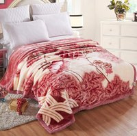 Wholesale Wholesale Print Fleece Fabric - Home Comfort 100% Ply super soft plush raschel blanket 200x230cm 3D printed