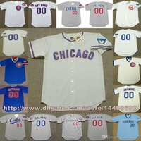 Wholesale Custom Blank Jerseys - Men's Wome  Youth Chicago Cubs Custom Any Name and Number Throwback Home And Away Jersey Or blank Jerseys Top Quality Stitched