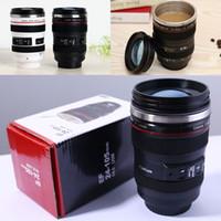 Wholesale New Generation Camera - NEW Creative Camera Lens Coffee Mug 400ml Stainless Steel Liner Tea Cup 6 Generation Tumbler Travel Mug SLR Lens Bottle Novelty Gifts WX-C32