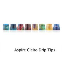 Wholesale Wholesale Disposable E Cigs - Epoxy Resin Drip Tips For Cleito Atomizer Tank High quality Pretty Pattern Wide Bore disposable drip tips for e cigs Shipping