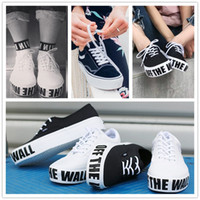 Wholesale Off Wall Canvas - 2017 New Authentic Platform 2.0 Canvas Shoes Fashion Women Black White Old Skool Off The Wall Skate Sneakers Size 36-39