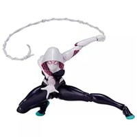Wholesale Spider Man Series Toy - Revoltech spider Gwen Stacy No. 004 Spider-Man series No. 002 toys man spider figure model gift