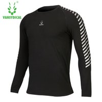 Wholesale tight gym shirts men - Workout clothes sport long-sleeved T-shirt high speed dry clothing breathable play basketball gym tights running coat