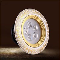 Wholesale European Light Switch - LED recessed lights Classical European gorgeous Ceramic LED celling lamp 3W 5W 7W 12W Gold round downlights DHL FREE SHIPPING