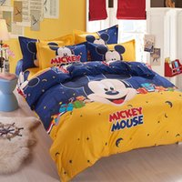 Wholesale Duvet Cover Sets Girl - Wholesale- space mickey boys girls bedding set duvet cover bed sheet pillow case queen full twin size,boutique bed linen for kids