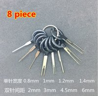 8 pezzi Auto Car Plug Circuit Board Wire Harness Terminale Pick Connettore Crimp Pin Back Ago Rimuovere Tool Set