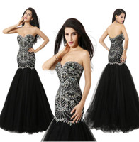 Wholesale Ready Made Gowns - Sexy 2016 Ready to wear Crystal Prom Gown Beaded Evening Dresses With Backless 100% Real Image Mermaid Sweetheart Formal Pageant Gown 2017