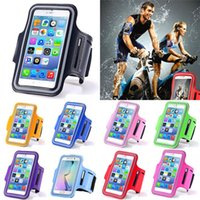Wholesale Iphone Accessories Running - Waterproof Sport Armband Case for iphone 7 6 6s Plus SE Gymnasium Activities Accessories Running Phone Pouch Cover ArmBand for Samung LG