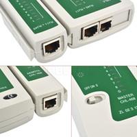 Wholesale Telephone Cable Tracker - Discount RJ45 RJ11Cat5 Cat6 LAN Cable Tester Handheld Network Cable Tester Wire Telephone Line Detector Tracker Tool kit
