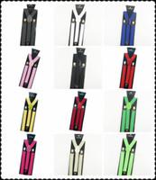 Wholesale Metal Clips Bulk - Wholesale-2015 fashion jeans pants trouser with Clip-on Braces Elastic Suspenders for women men 1inch metal back red bule bulk& Retail