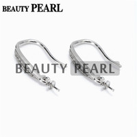Bulk of 3 Pairs Earring Settings 925 Sterling Silver Cubic Zirconia Earrings Blank Base DIY Jewellery Making