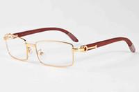 Wholesale Mixed Colours Wooden - Hot sale brand designer sunglasses for men buffalo horn glasses gold and silver full frame multiple colour rectangular lens sunglasses