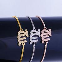 Wholesale Handmade Bracelets Connectors - Trendy Micro Pave Zircon Virgo Connector Charm Bracelets 12 Constellation Symbol Bangles Fit Handmade Women Jewelry Making Gift