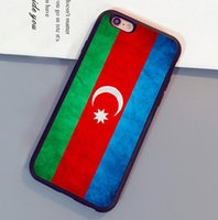 Wholesale Iphone 4s Back Cover Flag - Azerbaijan Grunge Flag Printed Mobile Phone Cases For iPhone 6 6S Plus 7 7 Plus 5 5S 5C SE 4S Back Cover
