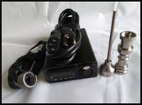 elektronischer vaporizer bong kit großhandel-2017 neue erfindung dnail d-nail verdampfer kit elektronische nagel für tupfen glas wasser bong trocken kraut wachs öl splitter rauchen smart kit