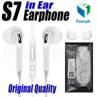Wholesale Dj Ear - Original Quality Earphones White 3.5MM In-Ear Music Headset DJ Headphones With Mic Volume Universal earbuds For Samsung S6 i9800 S6Edge S4