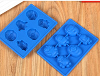 Wholesale Silicone Molds For Chocolates - Wholesale yellow people ice tray silicone kitchen baking molds for handmade cake chocolate ice soap candy pudding mousse bakeware suppies