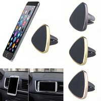 Wholesale Bluetooth Pdas - New Universal Magnetic Car Air Vent Holder Stand Mount Cradle For Cell Phone GPS