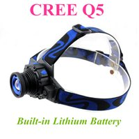 Wholesale Led Lights For Bicycles - CREE XML Q5 LED Headlight Headlamp Head Lamp Light Focus For Fishing Bicycle Camping Hiking DHL Free Shipping