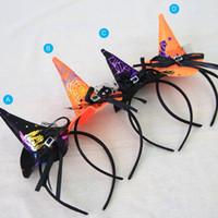 ingrosso cappelli del partito della fascia-Decorazione festiva del partito di evento della decorazione della fascia del ragno del cappello della strega delle decorazioni di Halloween di evento