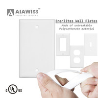 Wholesale Gang Plate - AIAWISS AW029 1-Gang No Device Blank Wall plate, Standard Size, Thermoset, Box Mount, White,Ivory
