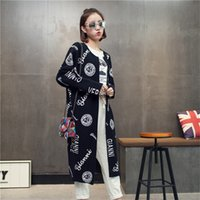 Wholesale Women Thick Cardigan Sweaters - Wholesale-Free shipping New Fashion 2016 Autumn Winter Women Knitted Long Cardigans Sweaters Women Coat Shrug