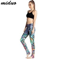 Wholesale Underwater World Print - The New High Waist Slim Fit Mention Hip Quick Dry Sports Breathable 3D Underwater World Goldfish Printing Lady Nine Yoga Pants