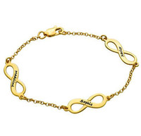 Wholesale Multiple Chain Bracelet - Women Most Popular Luxury Gold Multiple Infinity Chain Bracelet