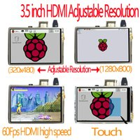 Wholesale Pi Touchscreen - Freeshipping raspberry pi 3.5 inch hdmi LCD touchscreen touch screen 60 fps high speed 3.5inch better than 5 inch and 7 inch