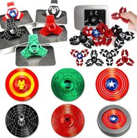Wholesale Men Fantasies - Newest Spider Man The Hulk Captain America Iron Man Hand Spinner Zinc alloy Spinner Fidget Toy EDC Autism ADHD Finger Gyro Toy Adult Gifts