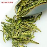 Wholesale chinese tea longjing for sale - Group buy 100g Chinese Organic Early Spring Green Tea Longjing Dragon Well Health Care Raw Tea New Scented Tea Green Food