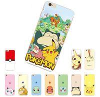 Wholesale Iphone Cases Pikachu - For iPhone 7 6s plus Case Pokemons Pikachu Poke Go Soft TPU Silicone Cartoon Poke Mon Case for iPhone 5s 6 7 plus