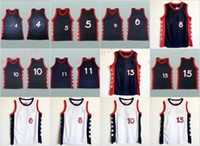 Wholesale Orange Team Names - 1996 USA Dream Team 15 Hakeem Olajuwon 15 Hakeem Olajuwon 4 Charles Barkley 10 Reggie Miller 8 Scottie Pippen 5 Hill Stitched With Name