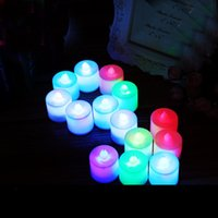 Wholesale unscented candles for sale - Group buy 960 piece cm cm Flameless LED Tea Light Candles Vivii Battery powered Unscented LED Tealight Candles Fake Candles Tealights