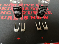 vorbau draht großhandel-Abreast Coil Sweep Coil NI80 Fertigspule Nichrome 80 Draht 0,24 Ohm 0,26 Ohm 2 Stück Fertigspulen Vorgefertigte Wickeldrähte Heizung für Mod
