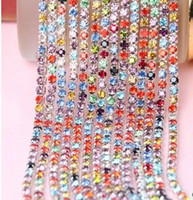 Wholesale Diamond Phone Case Diy - rhinestone DIY SS12# PP24# 3MM phone cases claw clothing accessories crystal chains electroplate allowed glass diamond DIY crystal chain