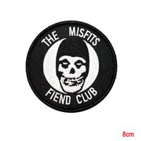 Wholesale Ghost Clubs - The Misfits Fiend Club Ghost Horror Punk Band Mascot Iron On Applique Patch