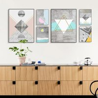 Modern Nordic Abstract Geometric Texture Shape Big Wall Impressão artística Poster Canvas No Frame Sala de estar Home Decor Picture Painting