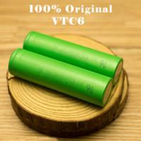 Wholesale Battery Cel - 100% Authentic VTC6 VTC5A 18650 Battery 3000MAH 2600MAH 35A Rechargeable Lithium Batteries Using Original Sony Battery Cel VS VTC5 VTC4 VTC3