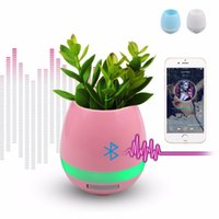 Smart Light Up Mini Waterproof Bluetooth Speaker Music Flower Pot Vase avec capteur tactile Lecteur de plastique sans fil pour bureau Home