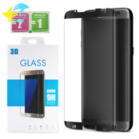 Wholesale Round Tempered Glass - 3D Full Cover Round Curved Surface For Samsung Galaxy S7 Edge S8 Plus Note8 Screen Protector S7edge Case Free Friendly Tempered Glass