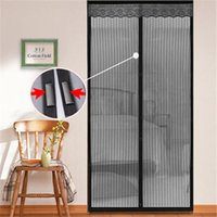 Wholesale Door Fly Screen Curtains - Summer Mosquito Net Curtain Screen Magnets Door Mesh Insect Fly Bug Mosquito Door Curtain Magnetic Net 0711015