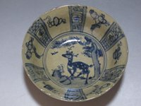 Wholesale Old China Porcelain - China Blue and white Porcelain old bowl Painted deer pine trees flower Have mark