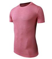 qualität fitness tragen großhandel-Neue im Freienabnutzung Sportkleidungseignungsabnutzung laufendes Jersey Kurzarmhemd gute Qualitätsrosafarbe