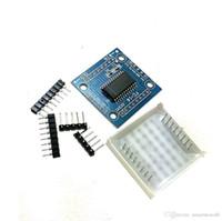 комплект mcu оптовых-MAX7219 матричная модель MCU модуль управления дисплей DIY комплекты B00142 просто