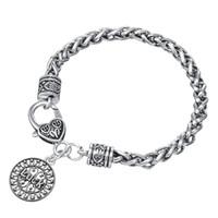 Wholesale Modern Charm Bracelets - Modern Design Heart LUCK Letter Hot Sale Charm Bracelets For Woman Gifts Stainless Steel Charm Bracelet
